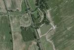 Obrysy fortu VII - letecký pohled
